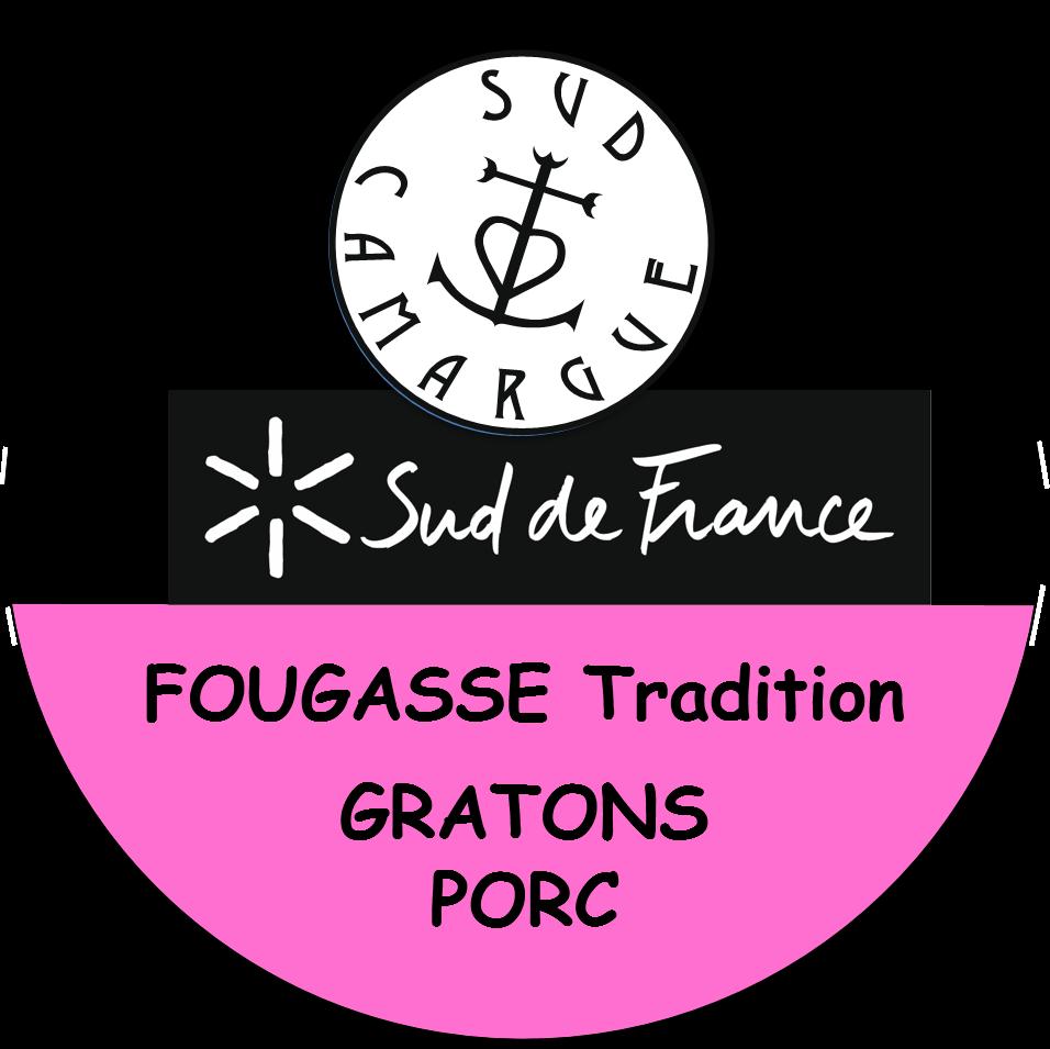 étiquette de la fougasse tradition aux gratons de porc