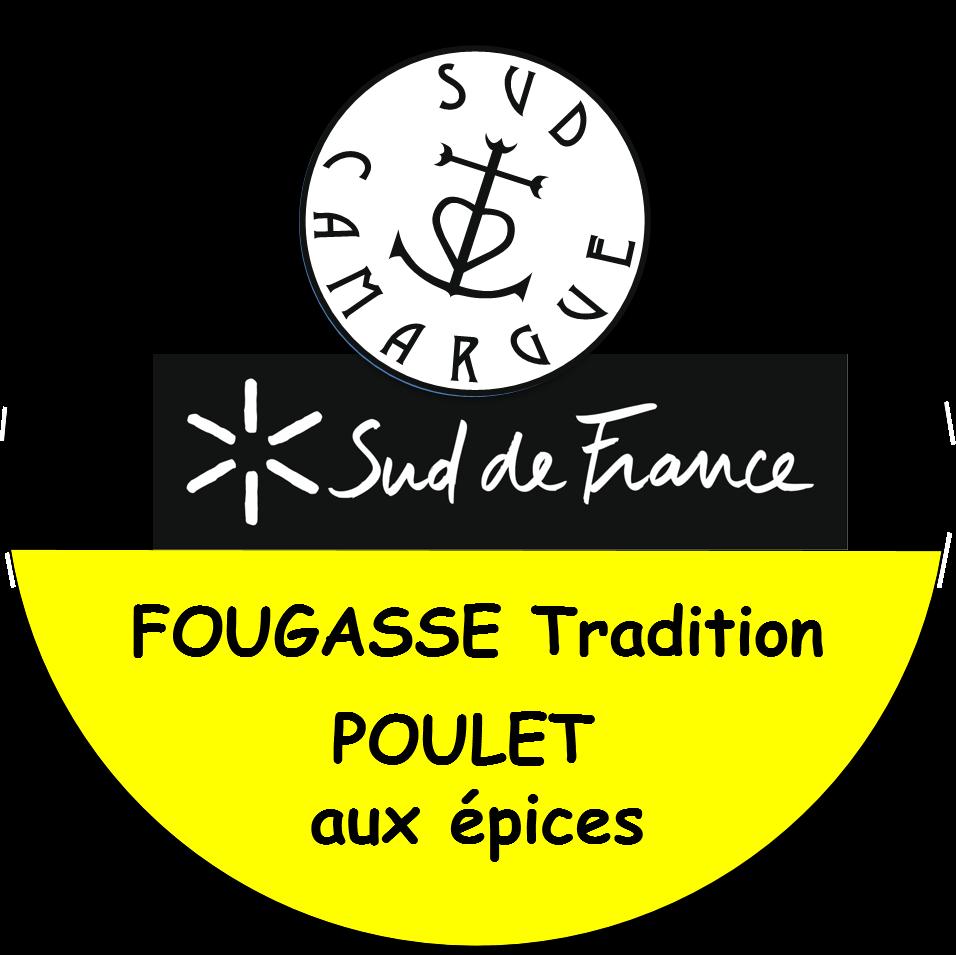 étiquette de la fougasse tradition poulet aux épices