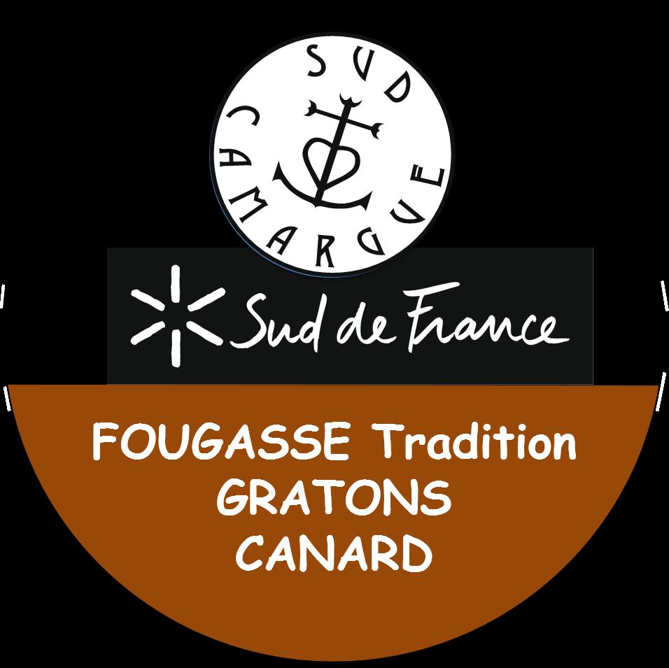 étiquette de la fougasse tradition aux gratons de canard