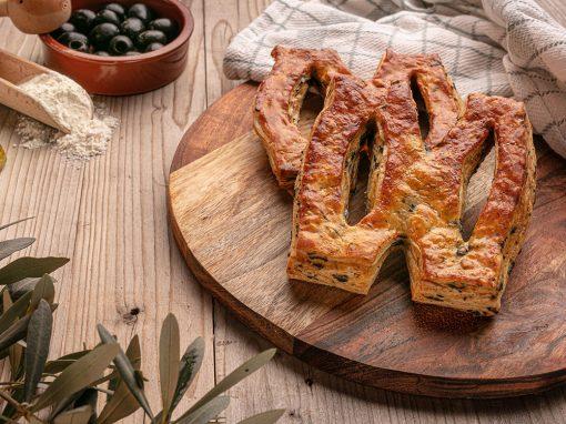 Fougasse tradition aux olives noires et herbes de provence