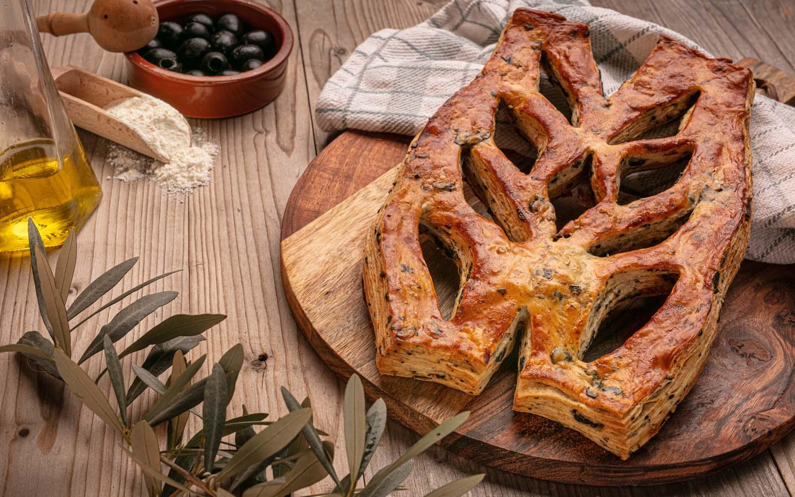 fougasse aux olives de 450g